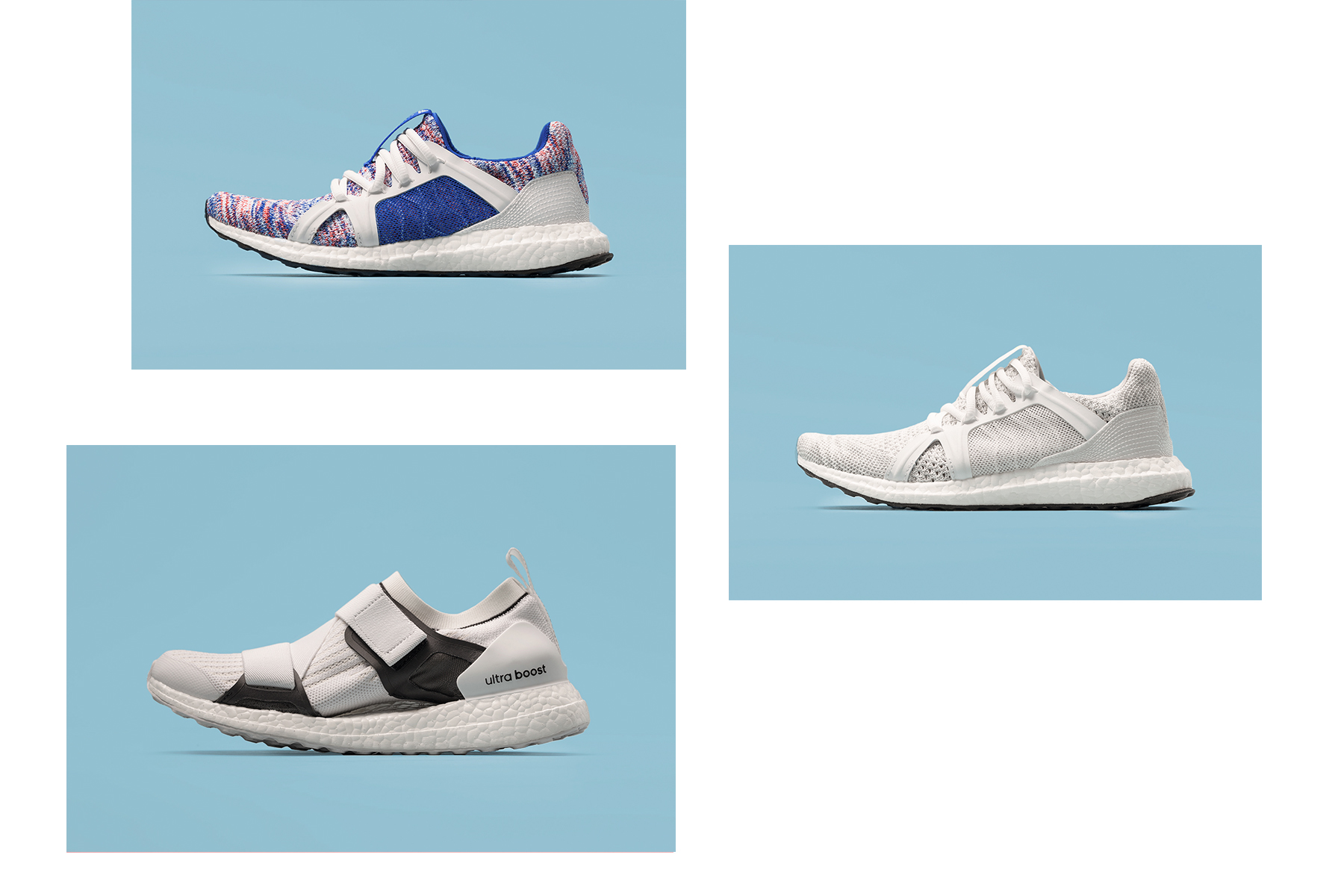 4c553e640f8 adidas by Stella McCartney Parley UltraBOOST X New Colorways Purple White  Grey Black Sustainable Footwear