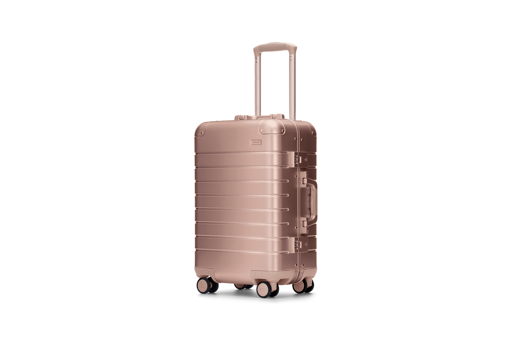 Away Aluminum Edition Suitcase Collection Rose Gold Black Silver